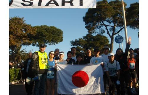 John with a group of Japanese runners in 2008