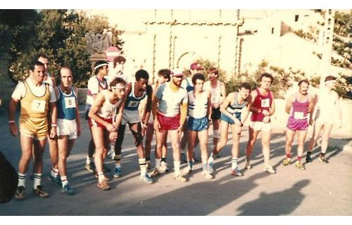 1985 M2S with 16 participants, 3 more than 1984 but 361 less than 2010! John Walsh is at the back with number 15. This was the first time that the race was run on a Sunday morning instead of Saturday afternoon.